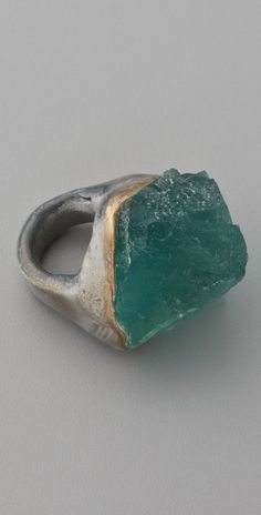 Adina Mills Design  Green Fluorite Ring (want this one, too!)