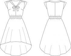 arranger un patron pour faire une robe asymétrique avant arrière