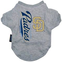 This San Diego Padres dog tee shirt features a v-neck design. It is made of 100% cotton and is machine washable. Size Chart: