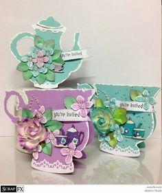 set of catds cups and teapot - Scrapbook.com