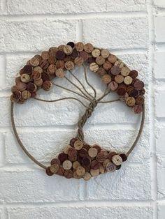 Wine Craft, Wine Cork Crafts, Wine Bottle Crafts, Wine Bottles, Wine Cork Wreath, Wine Cork Art, Wine Corks, Wine Cork Projects, Cork Tree