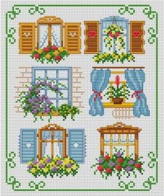 Windows with. Tons of FREE CROSS-SITCH PATTERNS at this site: just found a site that has really easy to download embroidery patterns for free. It's http://club-point-de-croix.com/?code_avantage=CWcplRsmji  Plus, if you click on this link, http://club-point-de-croix.com/?code_avantage=CWcplRsmji  , you'll automatically receive a gift when you subscribe. I use this site all the time; there are hundreds of all different types of patterns, and there are new patterns added everyday.