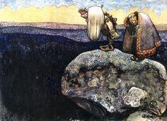 John Bauer - Troll - Bilder på lerret - Photowall
