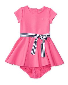 Ponte Dress & Bloomer - Baby Girl Dresses & Rompers - RalphLauren.com