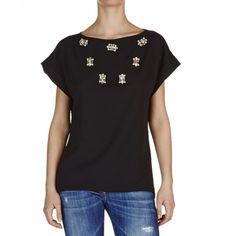 Capo del Giorno!  T-Shirt Neil Nera. http://shop.mangano.com/it/donna/17340-t-shirt-neil-nero.html