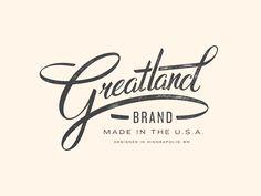 #Greatland #AllanPeters #tipografía #typography #lettering #letra #type #design #diseño #inspiration #inspiracion #branding #brand #marca