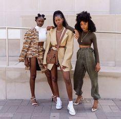 Black Women Fashion, Look Fashion, Womens Fashion, Black Women Style, Black Girl Style, 80s Fashion, Winter Fashion, Brunch Outfit, Mode Outfits