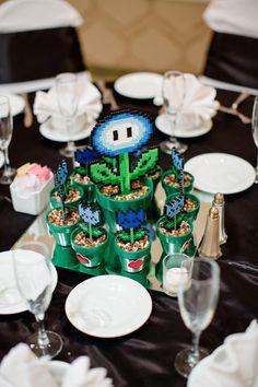 Adantha Wedding - 8 bit nintendo theme Photo By Mathy Shoots People games theme Video Game Wedding, Video Game Party, Wedding Games, Wedding Favors, Wedding Planning, Event Planning, Geek Wedding, Wedding Art, Dream Wedding