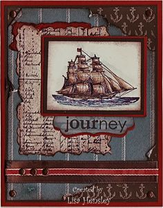 masculine nautical journey card by Lisa Hensley