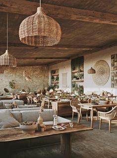 VWArtclub - Restaurant in Milos Cozy Cafe Interior, Rustic Restaurant Interior, Outdoor Restaurant Design, Bali Restaurant, Decoration Restaurant, Architecture Restaurant, Restaurant Seating, Restaurant Concept, Restaurant Interior Design