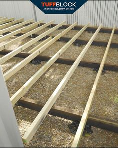 This is a great example of using bearers beneath TuffBlocks. This creates the 450mm centres needed for the deck boards, whilst reducing the number of supports needed. TuffBlock reduces the need for in ground concrete, making this a very cost effective and fast solution for building a deck.