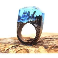Check out Dripping Turquoise Made with lots of love! ❤️ #woodjewelry #woodrings #jewelry   http://woodengem.com/products/dripping-turquoise