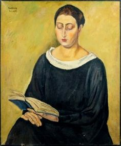 Femme lisant, 1923 by Simon Mondzain born October 15, 1890 in Chelm, Poland died December 30, 1979 (89) in Paris, France