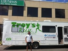 June - Ottawa, ON Troy's Run for Brain Injury Awareness arrives in Ottawa - Brain Injury Awareness, All News, Ottawa, Troy, June, Running, My Love, Products, Keep Running