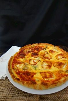 Quiches, My Recipes, Sweet Recipes, Favorite Recipes, Vegetable Recipes, Vegetarian Recipes, Savory Tart, Quiche Lorraine, High Calorie Meals