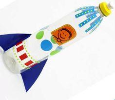 Reciclagem e Sucata: 10 ideias para fazer brinquedos reciclados Diy For Kids, Crafts For Kids, Rocket Craft, Sistema Solar, Kids Education, Plastic Bottles, School Projects, Kids Toys, Activities For Kids