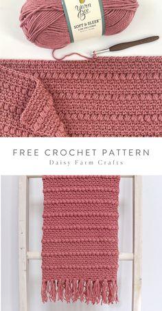 Free pattern crochet boho puff stripes blanket touch of peach baby blankets free crochet patterns Crochet Diy, Crochet Afghans, Crochet Scarves, Crochet Crafts, Blanket Crochet, Moogly Crochet, Diy Crochet Blankets, Free Crochet Blanket Patterns Easy, Baby Beanie Crochet Pattern