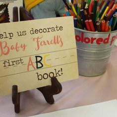 2019 Ok I think this idea is so cute! Then after all the pages are made I could just get them laminated and bound together! The post Book themed Baby shower ! 2019 appeared first on Baby Shower Diy. Baby Shower Brunch, Baby Shower Fun, Baby Shower Gender Reveal, Baby Shower Book Theme, Themed Baby Showers, Baby Shower Guestbook, Creative Baby Shower Gift, Baby Shower Keepsake, Baby Shower For Girls