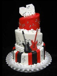 Unique Rock n' Roll Wedding Cake