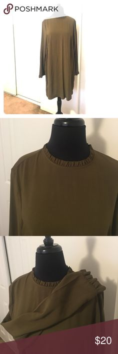 NEVERWORN*** H&M Ruffle mock Dress This Item runs Small***. Cleaning out my Closet SALE!🚺💕 Make me an offer! Everything must go!✈️. H&M Dresses Long Sleeve