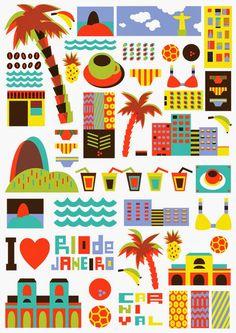 Elle critique - Blog Lifestyle, Voyages, Mode, Paris, ...: FAMOUS CITY ILLUSTREES !