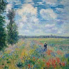 Les Coquelicots von Künstler Claude Monet als gerahmtes Bild