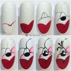 Gel Nail Art, Easy Nail Art, Nail Manicure, Diy Nails, Acrylic Nails, Funky Nail Art, Nail Art Designs Videos, Nail Designs, Jolie Nail Art