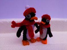 Como hacer un pingüino con limpiapipas - YouTube