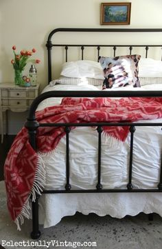 Nice iron bed from but I do prefer soft white with a few chips