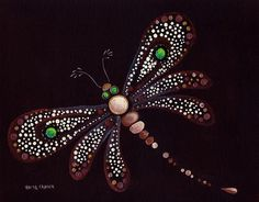 Image result for dot painting dragonfly