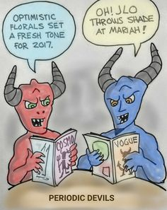 """Periodic Devils."" is published by Obnoxious Rhinoceros. Devil cartoon."