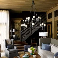 Decorated with deep, earthy browns and watery colors.