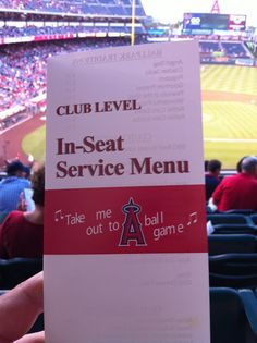 Sit in the club level for an angels game