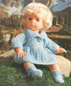 Outdoor Girl, pattern 18 from Volume Doll Patterns, Clothing Patterns, Knitting Patterns, Print Patterns, Baby Doll Clothes, Baby Dolls, Tiny Tears Doll, Outdoor Girls, Knitted Dolls