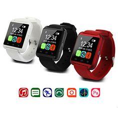 do bluetooth inteligente relógio relógio de pulso u8 u SmartWatch para samsung S4 / Nota 2/3 HTC lg Xiaomi smartphones Android Phone maçã – BRL R$ 78,83