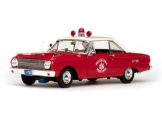 Sunstar 1963 Ford Falcon Philadelphia Police Diecast Model Car 1 18 SS4553   eBay