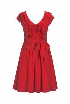 eShakti Women's Victoria Dress Tall Formula one red Cute Teacher Outfits, Short Dresses, Summer Dresses, Victoria Dress, Old Women, That Look, Bridesmaid Dresses, My Style, Lady