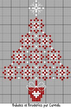 Broderie Suisse Cute Christmas tree. different from other patterns I have seen.