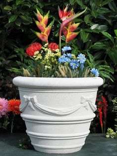 Sandstone ribbon #planter is detailed, top quality & 3 sizes.  Choose of colors.
