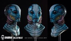 New tribute bust in silicone. Abe Sapien from Hellboy Cinema Makeup School, Abe Sapien, Golden Army, Free Comics, Dc Comics, Red Right Hand, The Shape Of Water, Makeup Blender, Free Comic Books