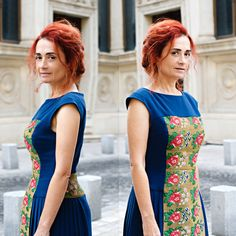 #SandraGalan #bespoke #fashion #design #vintage #Romanian #floral #folk #fabric #StreetStyle  Photographer: Andrei Cristian Petrescu Bespoke, Folk, Street Style, Floral, Fabric, How To Wear, Fashion Design, Vintage, Taylormade