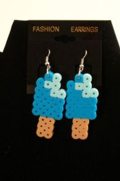 Popsicle earrings perler beads