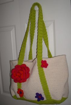 cotton tote bag with flowers....kind a springy!!