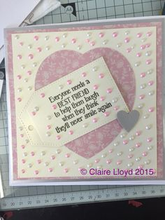 Sue wilson tag die, tonic circle, docraft coredination paper, cosmic shimmer pva pearl glue
