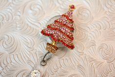 Christree tree bling  badge holder  badge reel  by DefinitelyYou