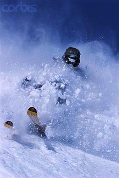 Skiing Powder at Alta, Utah