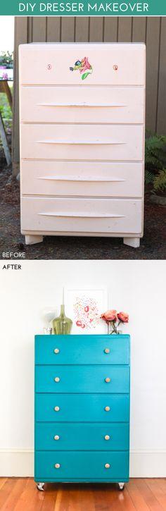 Thrift Store Dresser Makeover