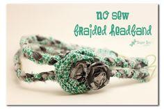 No sew braided headband
