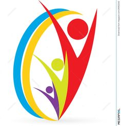 Illustration about A vector drawing represents people logo design. Illustration of card, business, illustration - 26952242 Hand Clipart, Art Beat, Friend Logo, People Logo, Minimal Logo Design, Community Logo, School Logo, Logo Concept, School Design