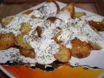 Rețetă Cartofi copti, cu marar Dairy, Cheese, Chicken, Meat, Tortellini, Quiche, Quiches, Cubs